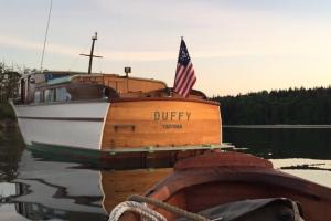 Pulling Dinky up to Duffy. (FB post 5-10-19)